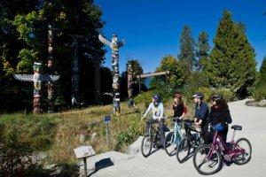 Grote fietstocht door Vancouver
