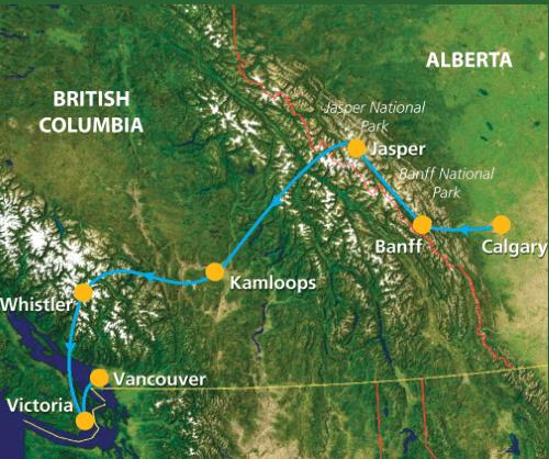 Groepsreis Canada Rockies Trail 001