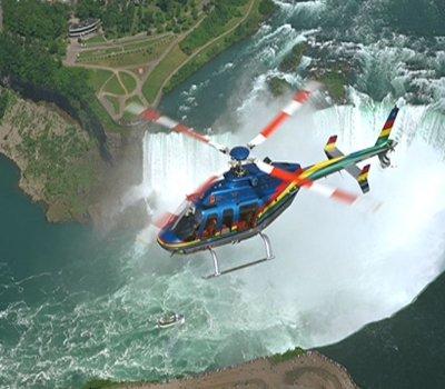 Helicopter Flight over Niagara Falls
